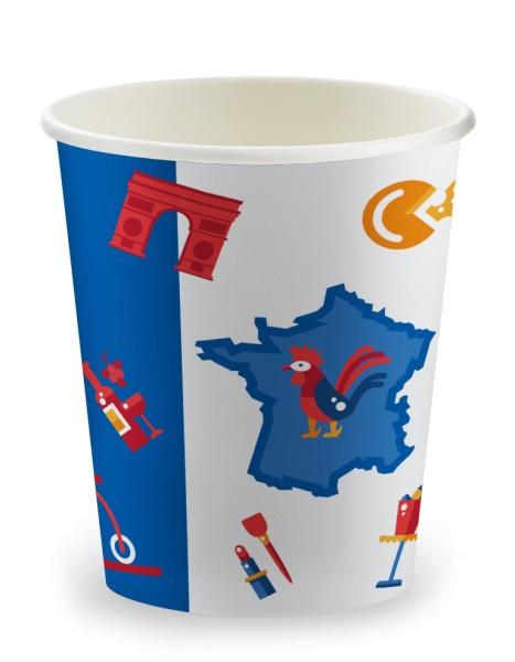 Gobelet 15cl en carton France Les Incontournables