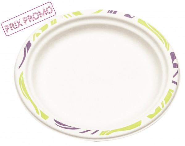 Assiette ronde 24cm - Chinet - Flavour PROMO