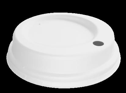 Couvercles blancs en fibre 80mm x 1800 pièces