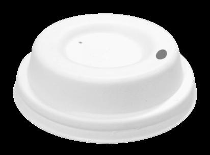 Couvercles blancs en fibre 63mm avec trou x 2000 pièces
