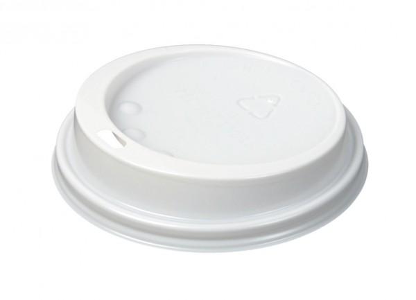 Couvercles blancs pour gobelets en carton diamètre 90mm