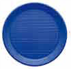 Assiette ronde 17cm bleu PS