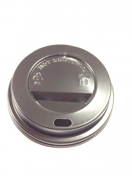 Couvercles noirs pour gobelets en carton diamètre 70mm