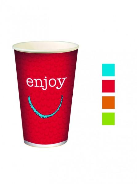 Gobelet 40 cl en carton Enjoy pour boissons froides