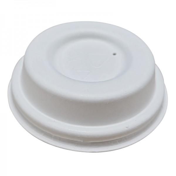Couvercles plats blancs en fibre 63mm x 2000 pièces