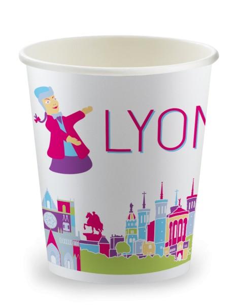Gobelet 15cl en carton Lyon - 3000 pièces