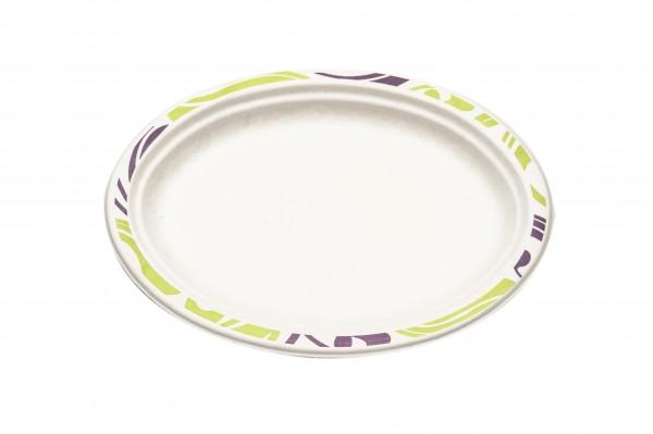 PRIX ROND : Assiette ovale - Chinet - Flavour